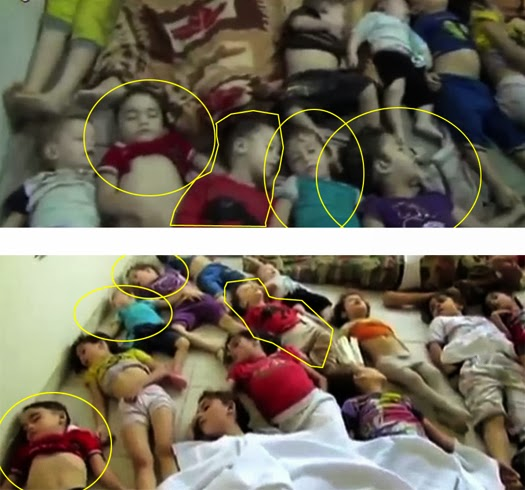 Children: Poision gas victims in Syria - 'Staged Managed' Video