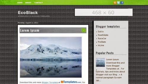EcoBlack - Free Blogger Template