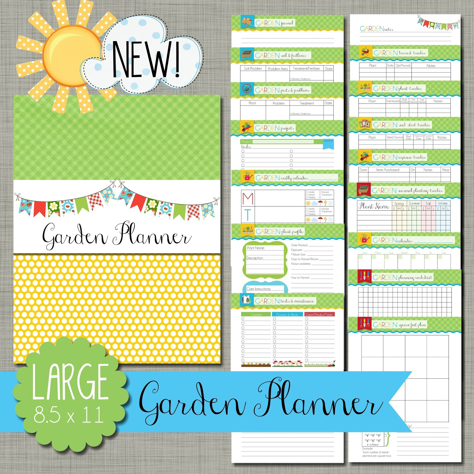 The Polka Dot Posie Introducing our New Garden Planner
