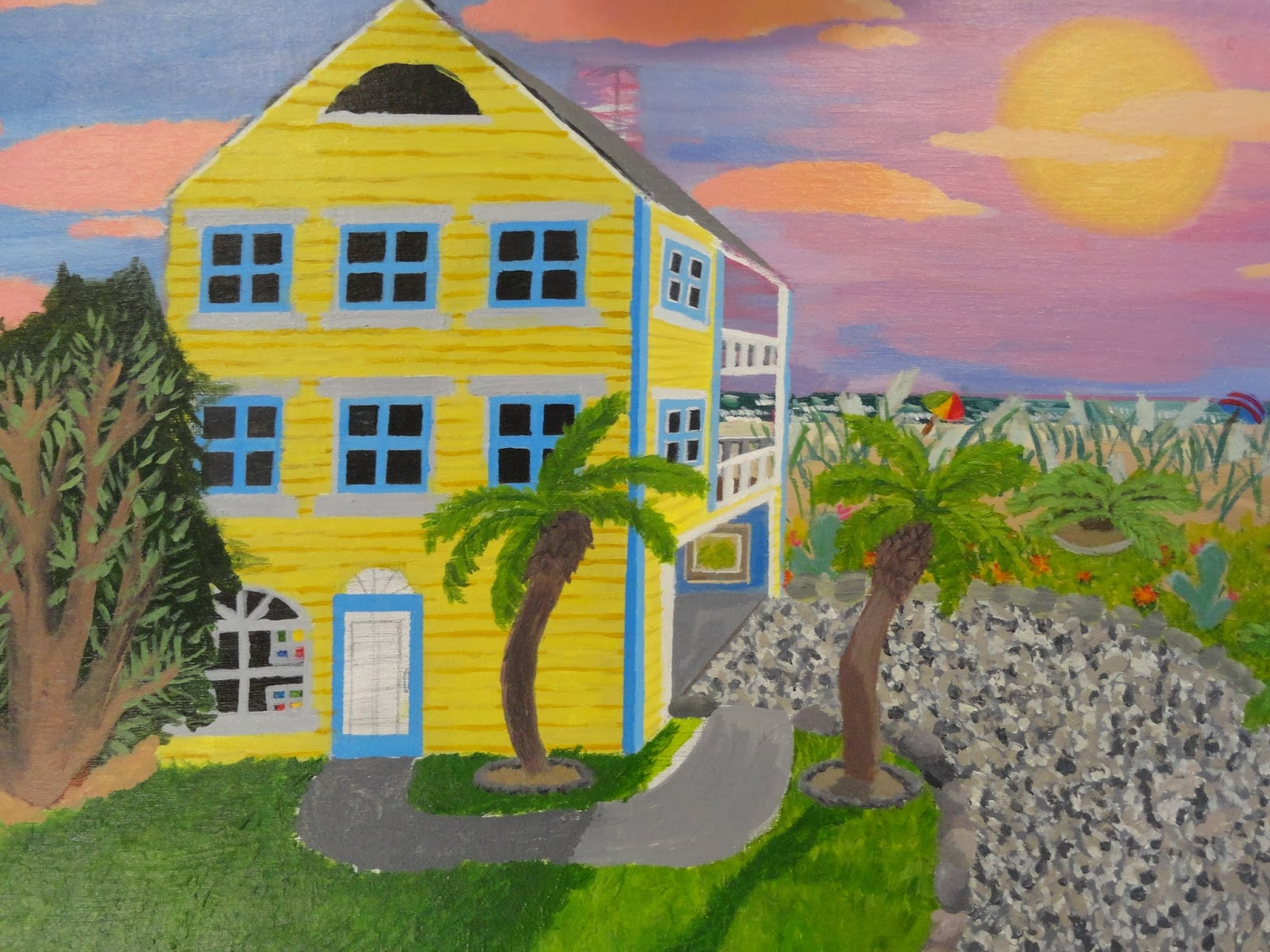 Art of apex high school perspective final for Beach house drawing