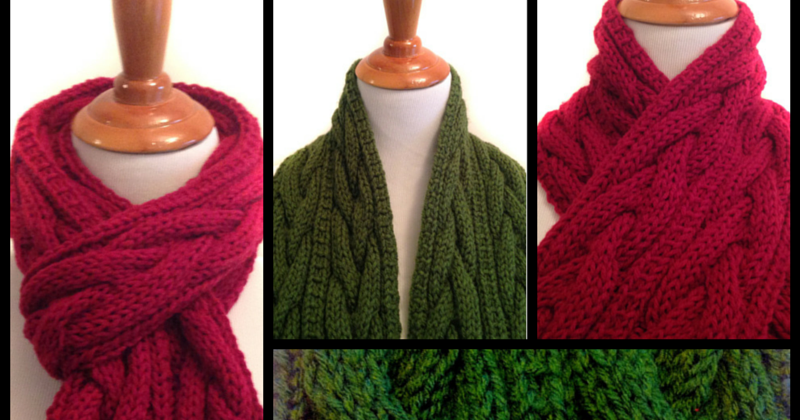 Sharondipity Designs: Connemara Plaited Knit Scarf Pattern
