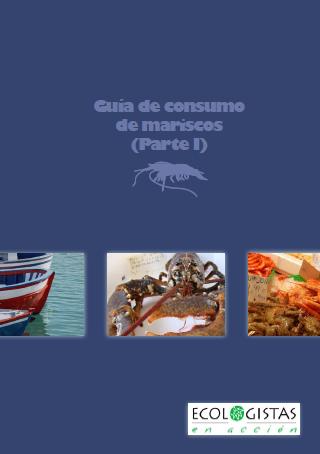 Portada de la guía de consumo responsable de mariscos