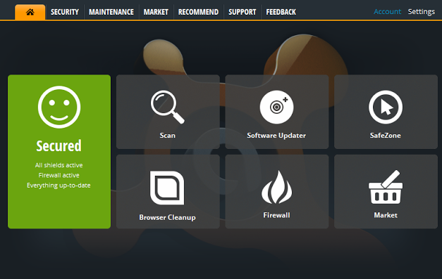 Avast Internet Security 8.0 - Main Interface