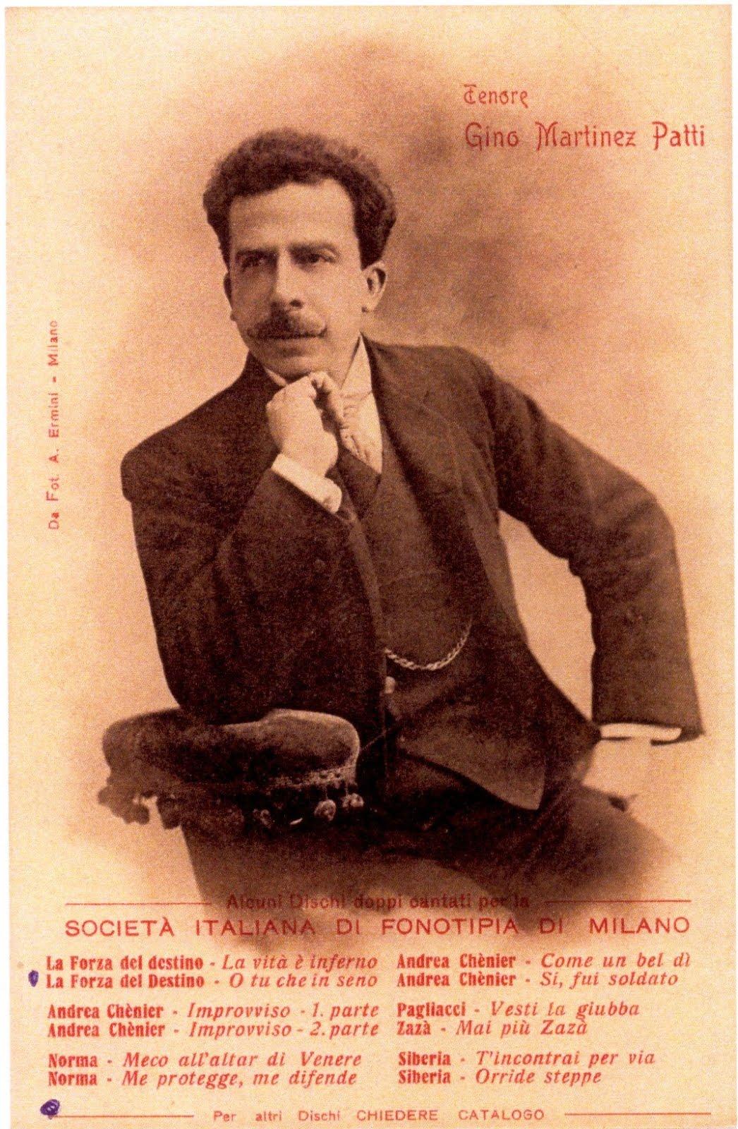 TENOR GINO MARTINEZ-PATTI (1866-1925) CD