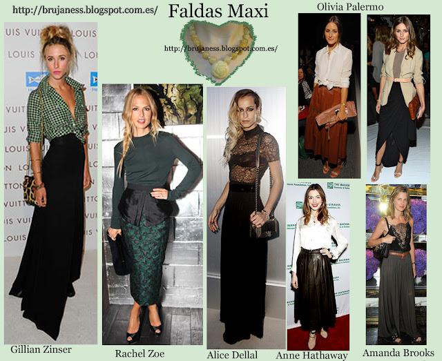 Faldas Maxi vistas en diferentes famosas
