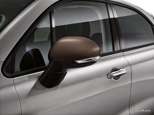 Fiat 500X Matte Bronze Mirror Cap