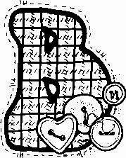 desenho de alfabeto de tecido e botoes para pintar letra B