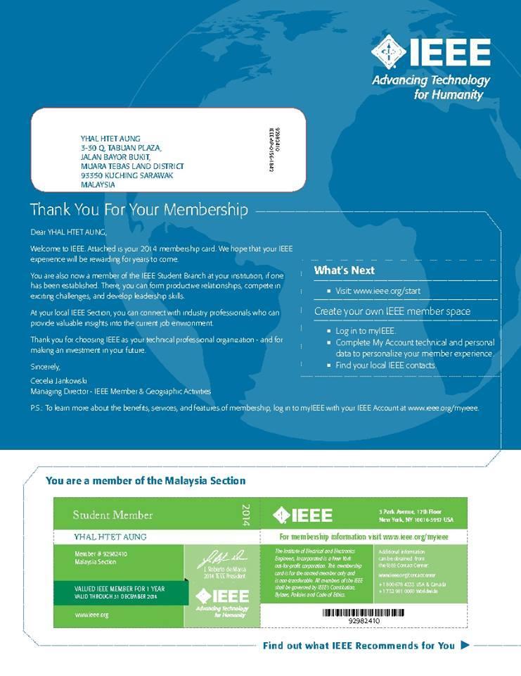 IEEE Certificate