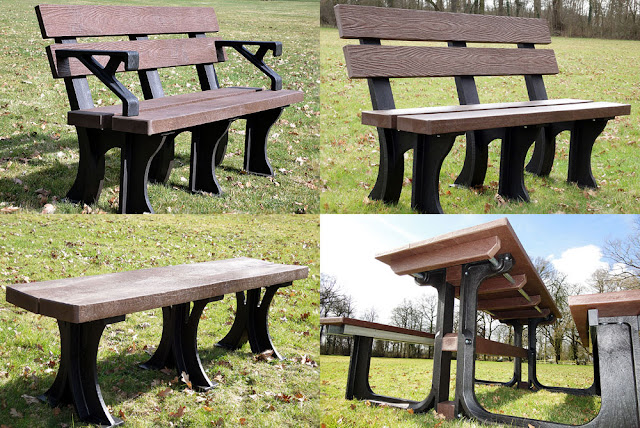 Benches.co.uk range of recycled garden furniture