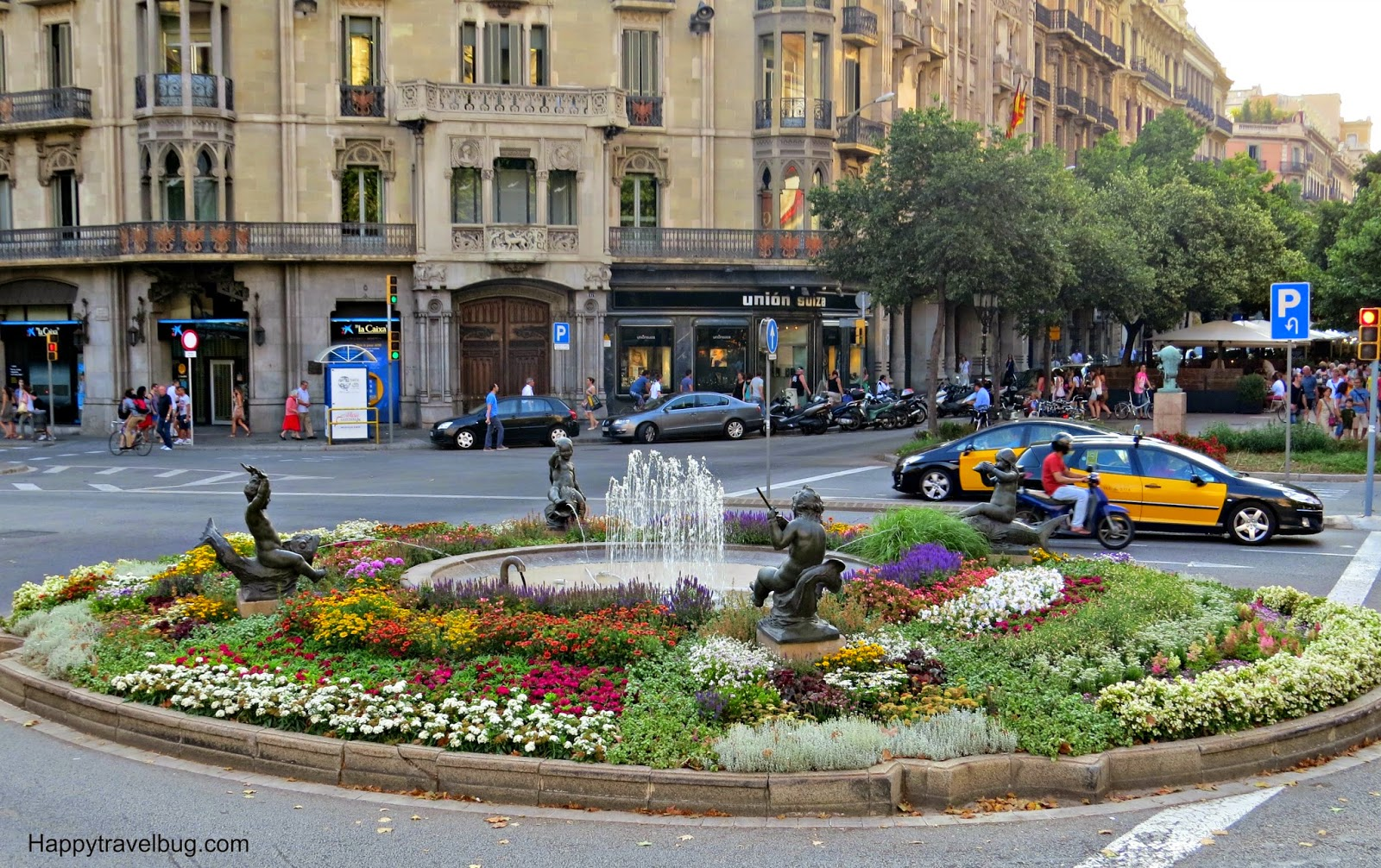 Fountain in Barcelona, Spain