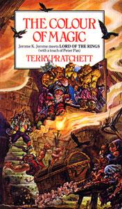 Portada de El color de la magia, de Terry Pratchett