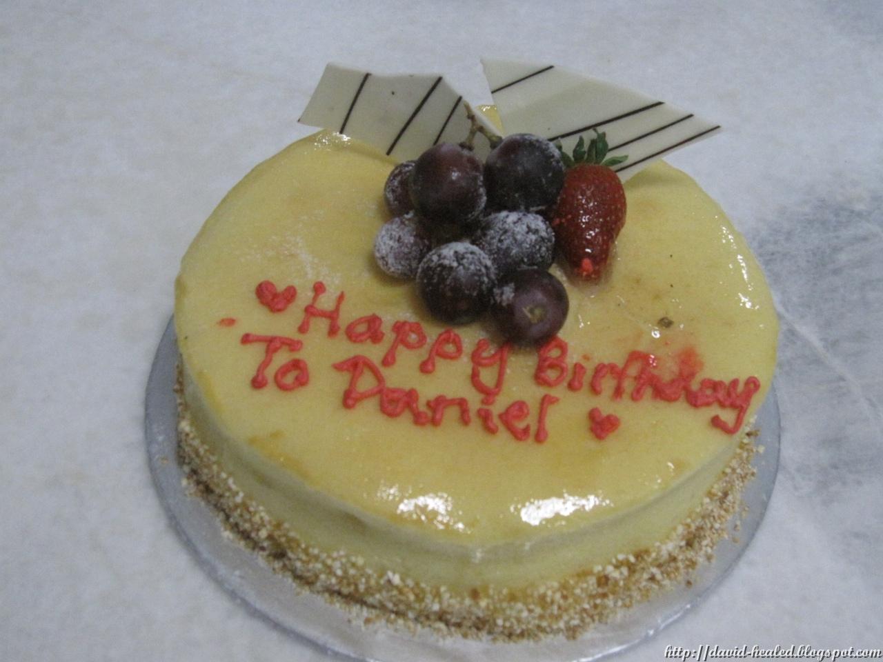 Birthday Cake Images For Daniel : David s Bone Marrow Transplant - Jesus Heals: Day +1810 ...