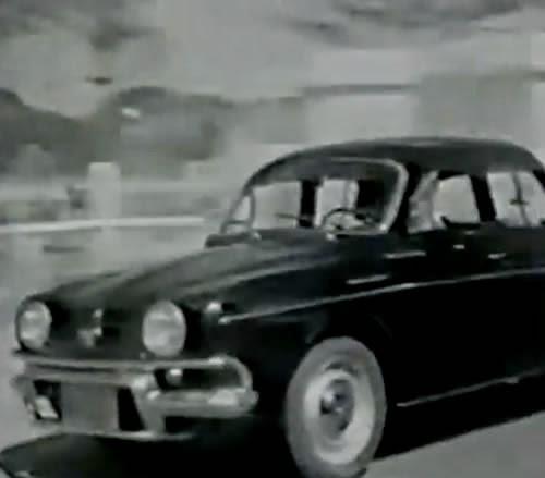 Propaganda do Renault Gordini de 1968: comercial produzido na estrada que ligava São Paulo (capital) ao litoral.