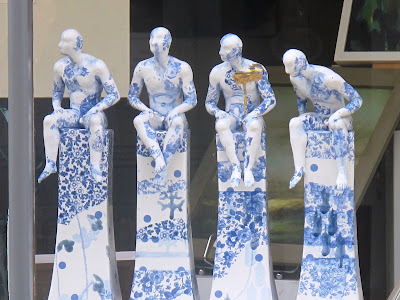 china floral men in art gallery at Ross on Wye