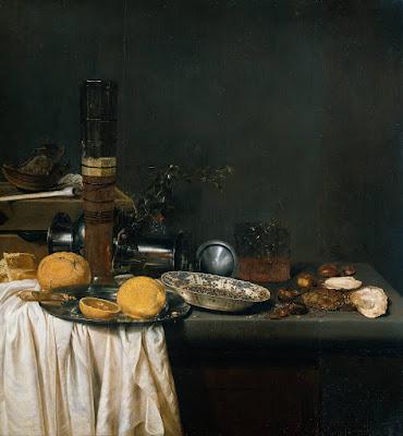 Jan van de Velde III - nature morte avec verre de bière, 1647.