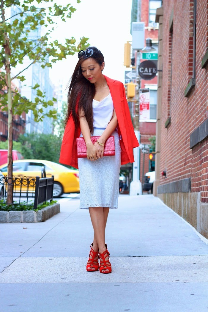 lace,pencilskirt,red,blazer,asos,GiuseppeZanotti,Prada,SaintLaurent,AnarchyStreet,nyc,shallwesasa,streetstyle,ladylike,musthave