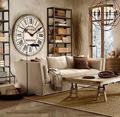 Un toque vintage decorar con relojes de estilo vintage for Decoracion tipo vintage