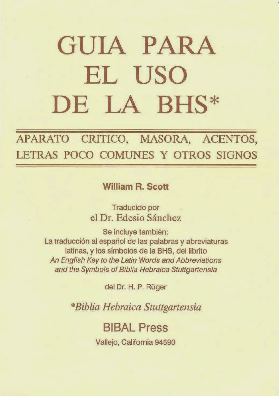 William R. Scott-Guia Para El Uso De La Biblia Hebraica Stuttgartensia-