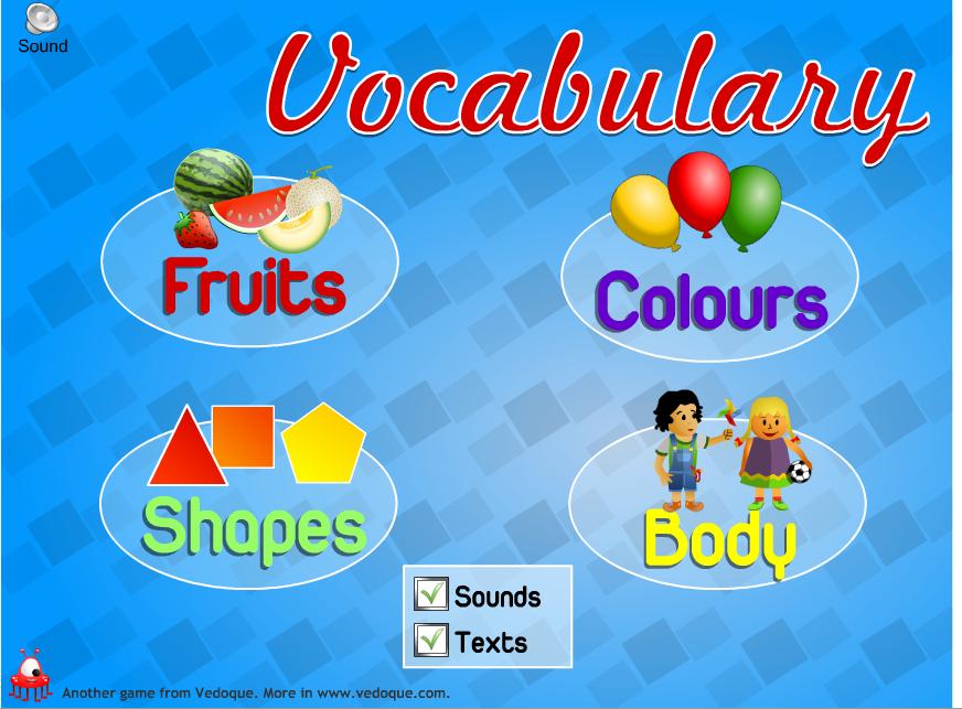 vocabulary teaching swf: