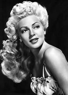Vintage black and white photo of Lana Turner