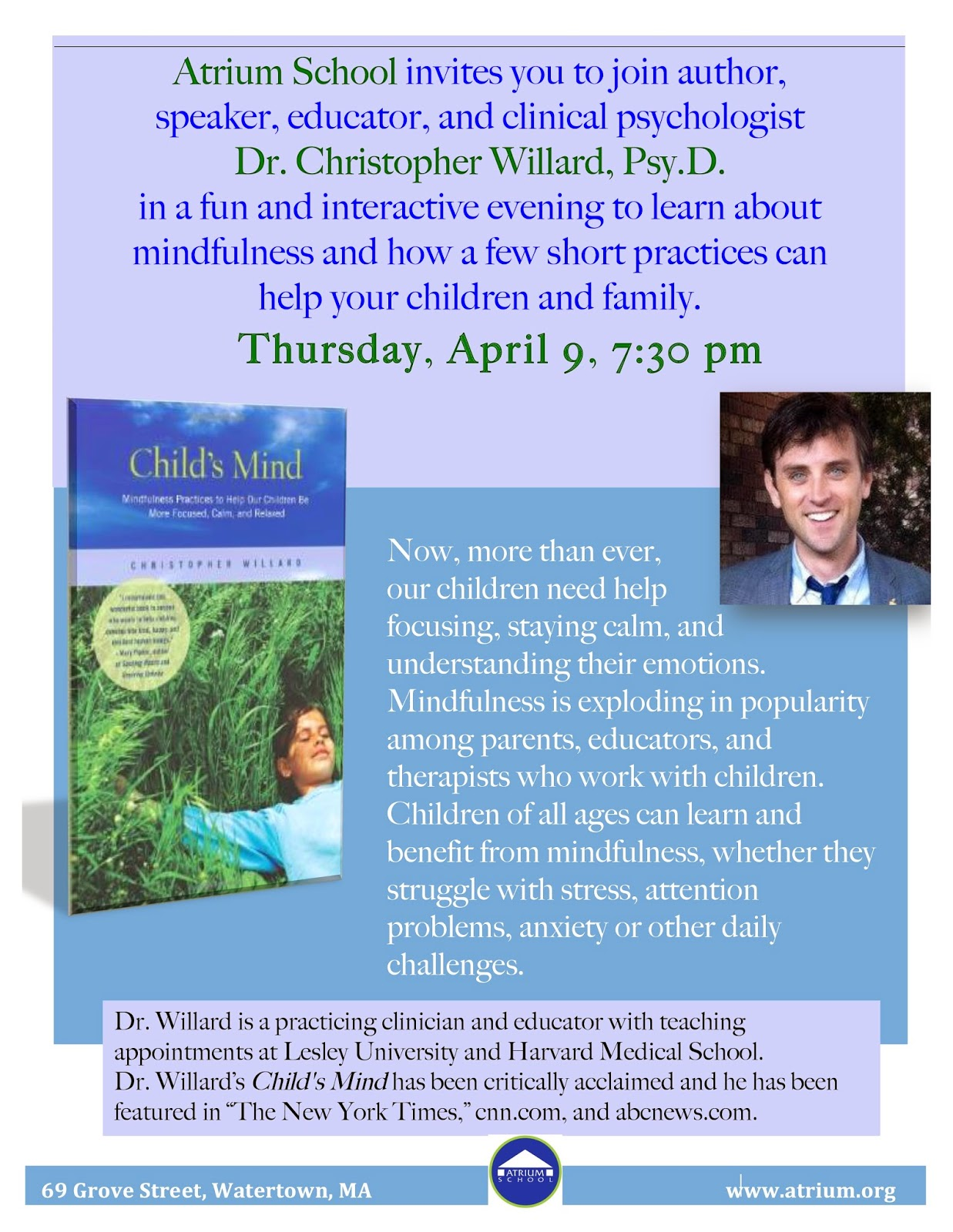 Free Talk On Mindfulness Practice For >> Nesca News Notes Free Talk On Mindfulness Practice For Children