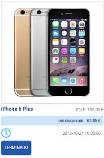 iphone 6 plus tecnobid barato fácil ganha ganhar prize