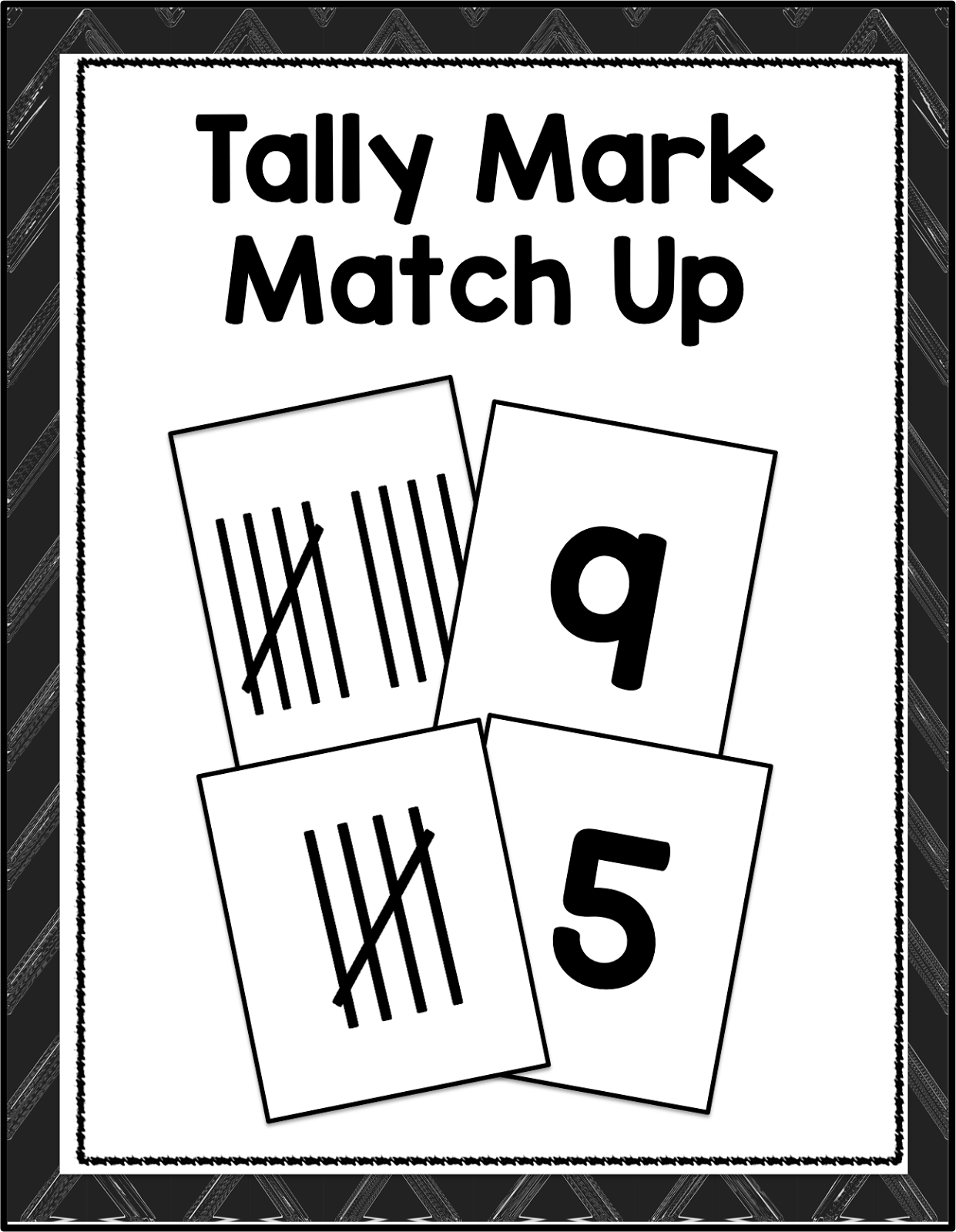 tally mark practice, tally mark cards