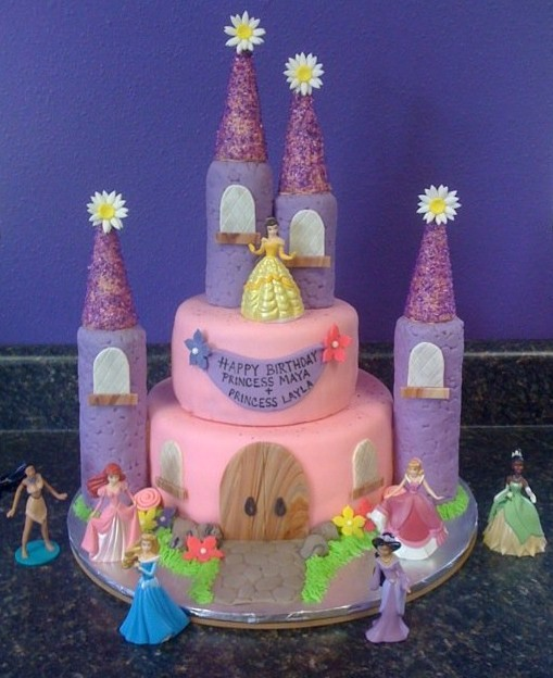 Sweet Melissas Maya And Laylas Princess Castle Cake