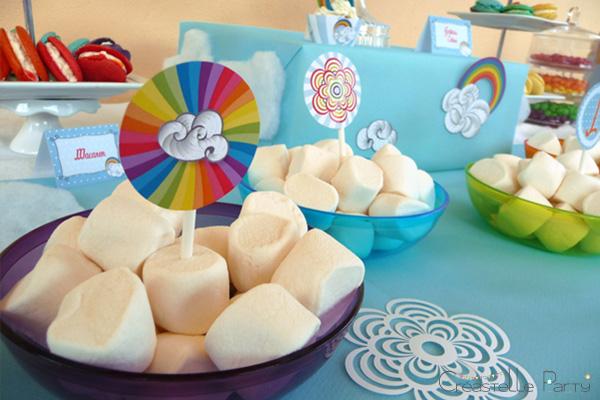 Sweet table arc-en-ciel étiquettes / rainbow toppers