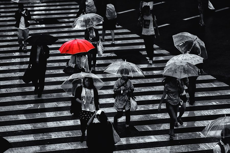 21. The Red Umbrella by Loic Labranche