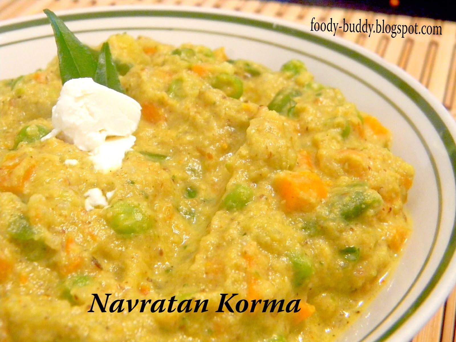 Navratan Korma Recipe - FoodyBuddy