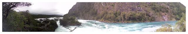 Panorámica de los Saltos del Río Petrohue, Chile