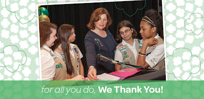 For All Girl Scout Volunteers Do, Girl Scouts of Nassau County Thanks You!