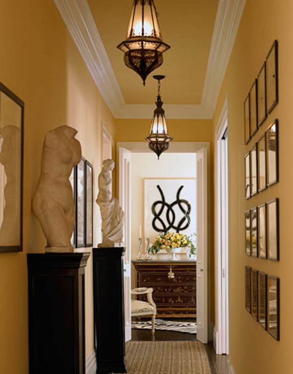 Twine hallway design ideas for Hallway wall decor