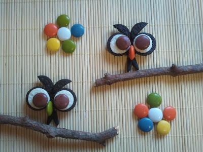 Galletas Búho con galletas Oreo