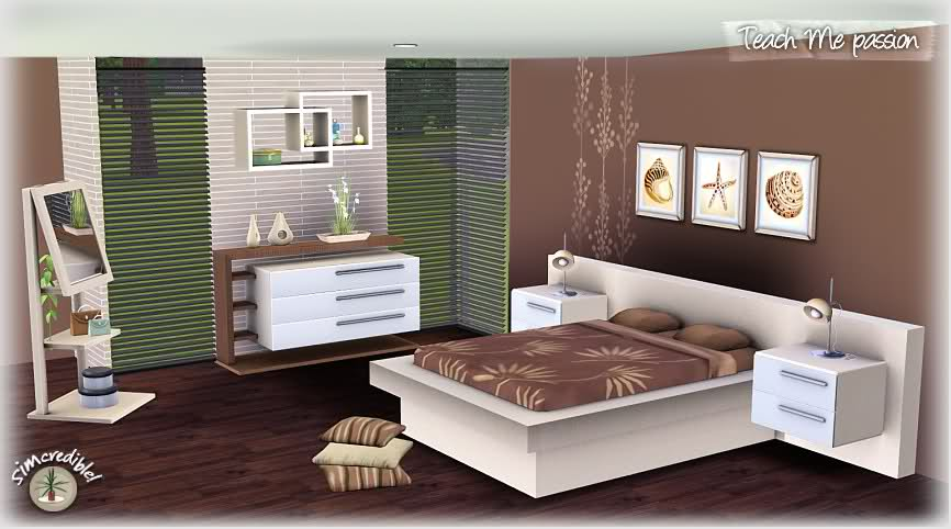 My sims 3 blog teach me passion bedroom set by for Bedroom designs sims 4