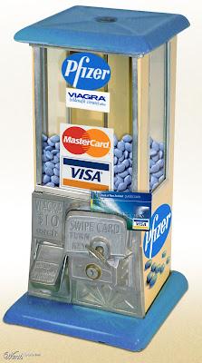 Little Blue Pill Vending Machine