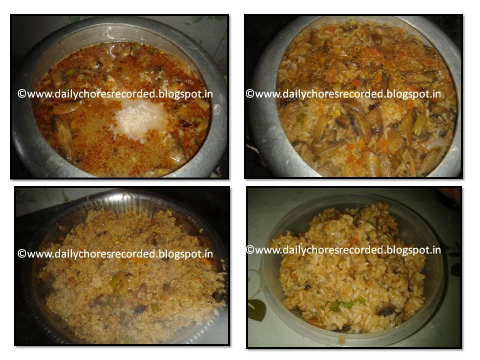 Mushroom Veg Biriyani
