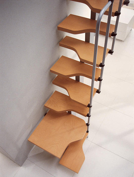 November 2012 home interior project - Tight space staircase design ...