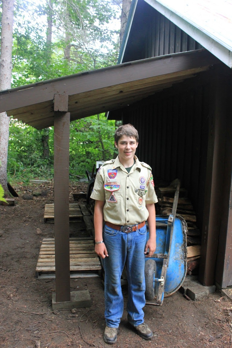 Boy Scouts Build A Wood Shed At Camp Plymouth Vermont