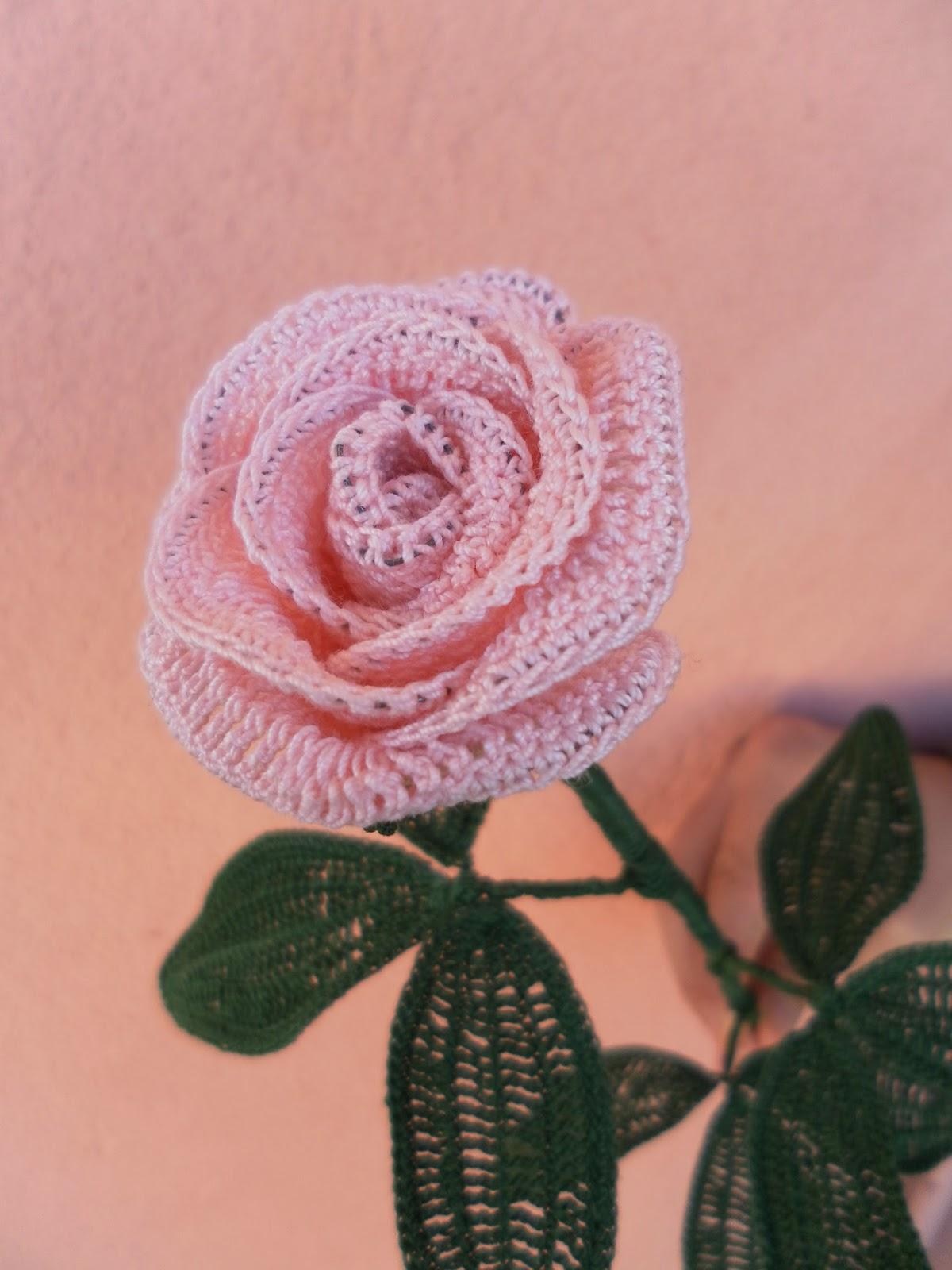 Il blog di sam spiegazione della rosa all 39 uncinetto - Fiore collegare i punti ...