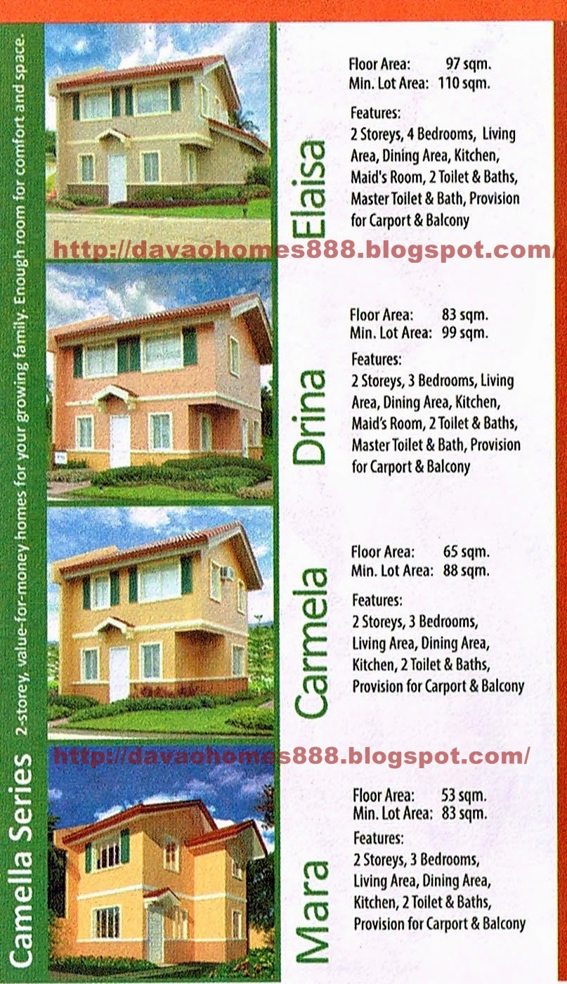 Davao homes 888 camella davao communal davao city for Home models and prices