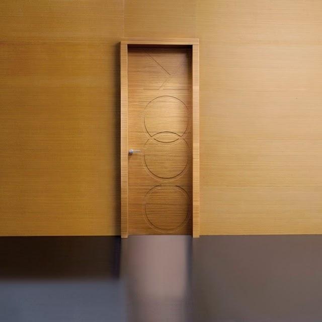 Unique Graffiti Design Of Wooden Door