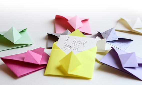 cara membuat origami amplop yang unik