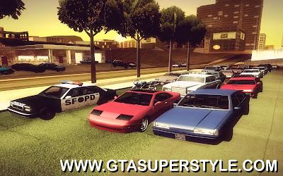 GTA SA - Estacionamentos para 256 carros
