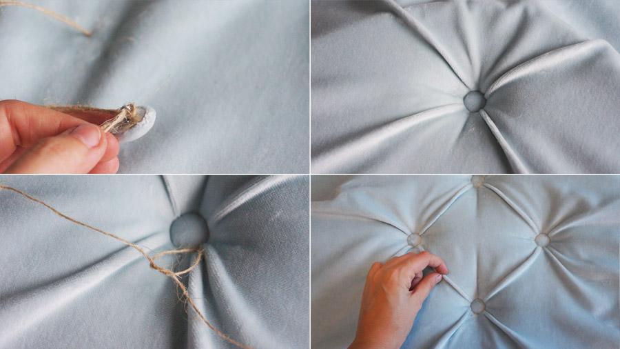 C mo hacer un cabecero capiton diy blog decoraci n con - Como hacer un cabecero de cama tapizado ...