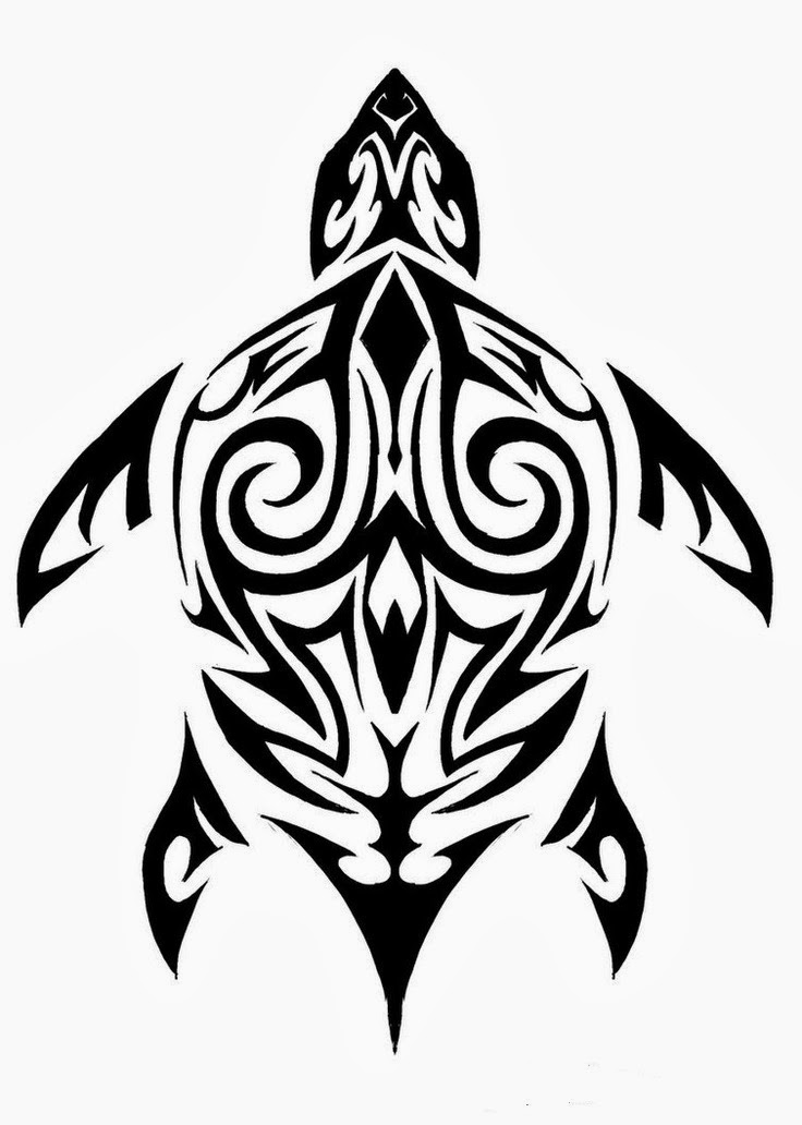 Simple Turtle Tribal Tattoo | www.imgkid.com - The Image ...