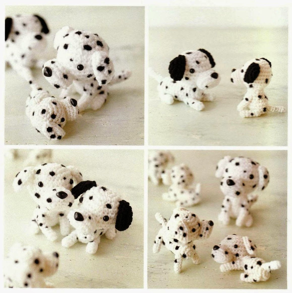 Free Japanese Craft Patterns: Dalmatian Dogs Amigurumi ...