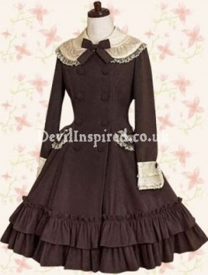 Brown Vintage Classic Lolita Dress