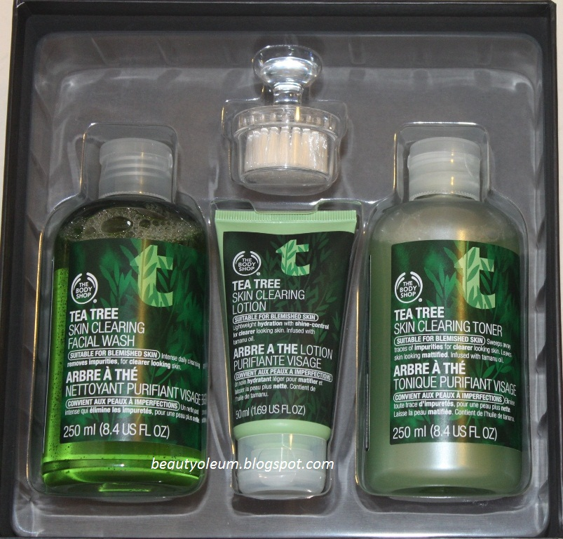 Facial toners with tea tree oil